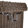 KLICKfix Saleen handlebar bike basket - brown 4