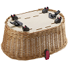 KLICKfix Doggy Basket Plus KorbKlip - pet basket with hood for any carrier 2