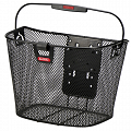 KLICKfix Uni bike basket with light clip - black