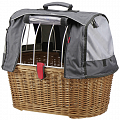 KLICKfix Doggy Basket Plus with hood for GTA carrier adapter