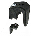 KLICKfix Hooks for Universal Rail with grey insert Ø 8/10/12mm - pair