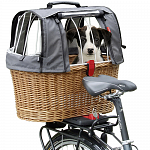 KLICKfix Doggy Basket Plus with hood for GTA carrier adapter 2