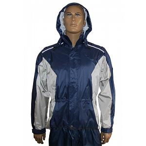Hock Bike Top Climate Rain Jacket Blue-Silver, Size MEDIUM 1
