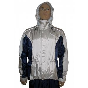 Hock Bike Top Climate Rain Jacket Silver-Blue, Size X-Large 1
