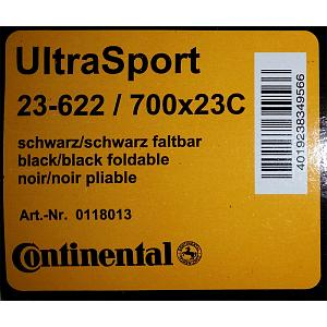 Continental Ultra Sport Tires Folding - 700x23 - black 2