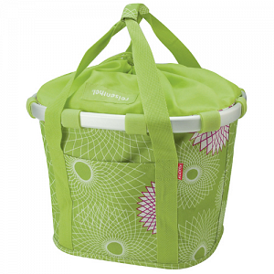 KLICKfix Bikebasket handlebar basket, bike bag - crystals lime green 1