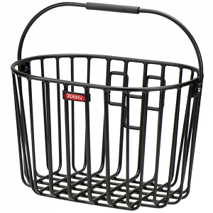 KLICKfix Alumino Basket handlebar bike basket - black 1