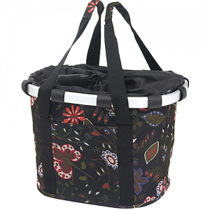 KLICKfix Bikebasket handlebar basket, bike bag - folklore black 1