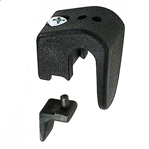 KLICKfix Hooks for Universal Rail with grey insert Ø 8/10/12mm - pair 1